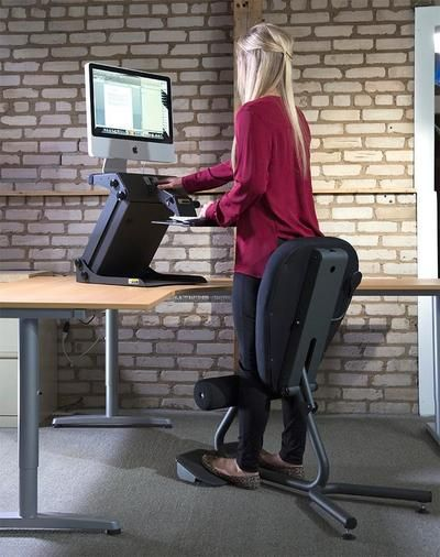 Healthpostures 5000 Stance Move Sit Stand Chair Standing Desk Chair Chair Standing Chair