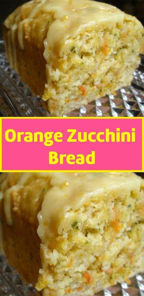 To Make this Recipe You'Il Need the following ingredients:  INGREDIENTS BREAD 4 eggs 1 1⁄2 cups sugar 3⁄4 cup oil 2⁄3 cup orange juice 2 cups shredded unpeeled zucchini 3 1⁄4 cups all-purpose flour 1 1⁄2 teaspoons baking powder 1 1⁄2 teaspoons baking soda 1 teaspoon