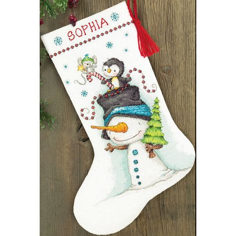 Dimensions Needlepoint Kit Penguin Trio Personalized Christmas Stocking 16
