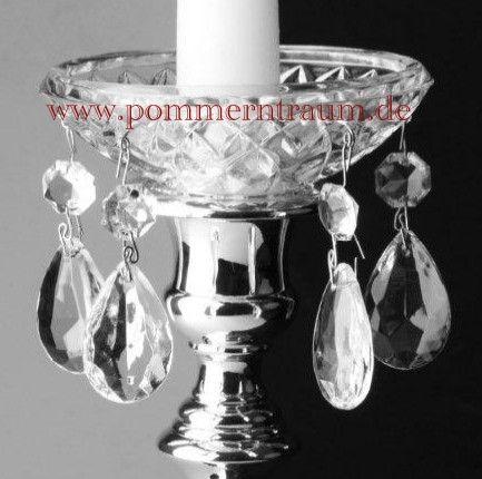 Kerzenteller Tropfenfanger Aus Edlem Kristallglas Mit 5