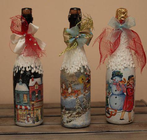 handmade Декор новогоднего шампанского...