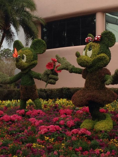 Mickey and Minnie, Flower and Garden show@ Epcot, Walt Disney World