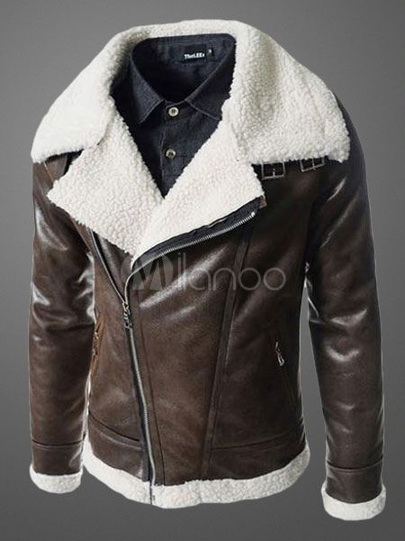 aa7f246103d Men s Leather Jacket With Notch Collar  Mensoutfits