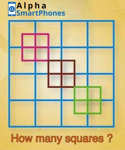 Can You Tell How Many Squares Are In This Number Brainteaser Uk Alphasmartphones