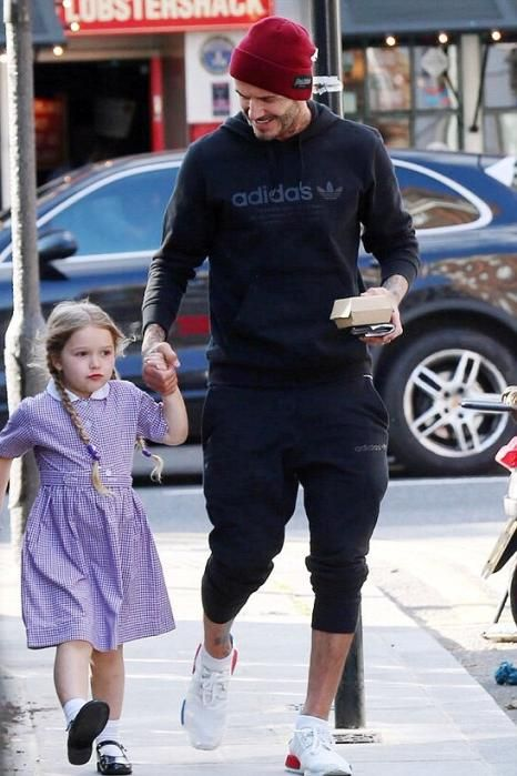 uk cheap sale arrives outlet on sale David Beckham wearing Adidas Nmd Primknit Og White Red Blue ...