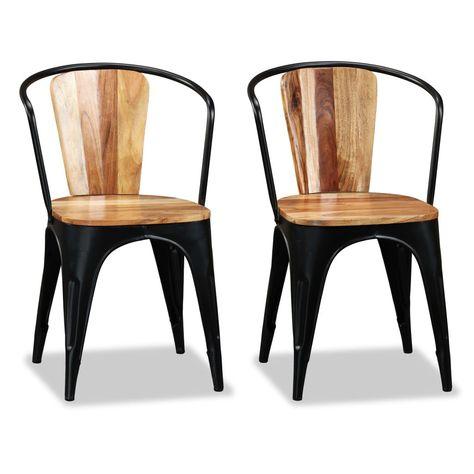 vidaXL 2//4//6 pcs Dining Chairs Furniture Handwoven Wood Genuine Rattan Brown