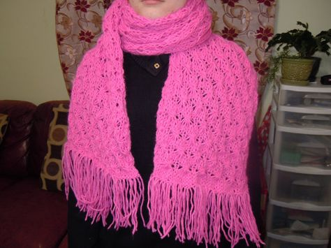 Knitted Buble Gum Color Scarf Neck Warmer Scarf Soft by NKnitting