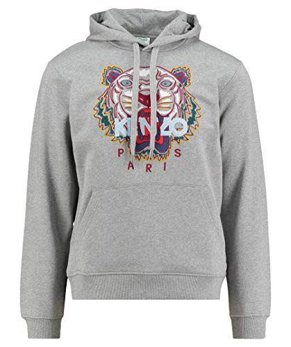 35e97338 Kenzo Men's Classic Tiger Hoodie, Grey Sweatshirt (S)   Top 100 ...