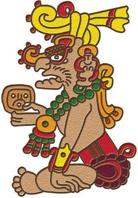 Kinich Ahau The Sun God Is Often Depicted With Jaguar Like