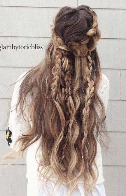 Androgynous Women Hairstyles Long Romantic Wedding Hair Hair Styles Bohemian Hairstyles