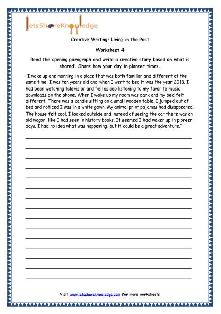 Grade 4 English Resources Printable Worksheets Topic Random