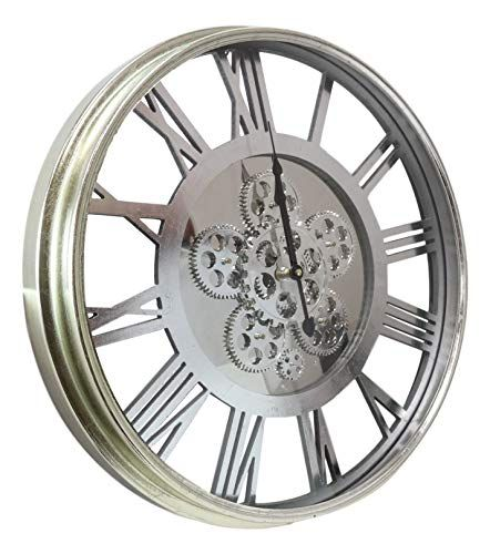 Ebros Large 21 25 W Contemporary Modern Transitional Design Steampunk Wall Clock With Complex Mechani In 2020 Wall Clock With Moving Gears Metal Wall Clock Wall Clock