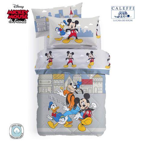 Lenzuola Letto Singolo Disney.Mickey Town Trapunta Invernale Per Letto Singolo Disney Caleffi
