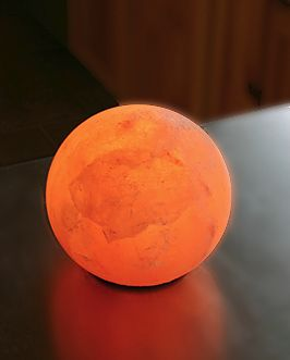 Salt Crystal Sphere Lamp - want this as a night light