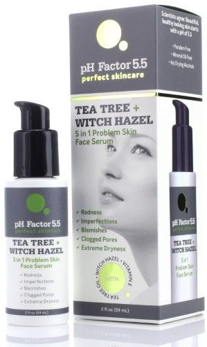 Ph Factor 5 5 Tea Tree Face Oil With Witch Hazel Vitamin E Natural Extracts Anti Aging Oil For C Dry Skin On Face Extremely Dry Skin Tea Tree And Witch Hazel