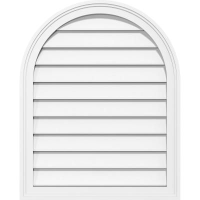 Ekena Millwork 36 In X 26 In Round Top Surface Mount Pvc
