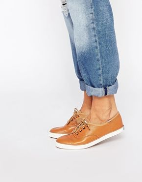 Keds Tan Leather Sneakers