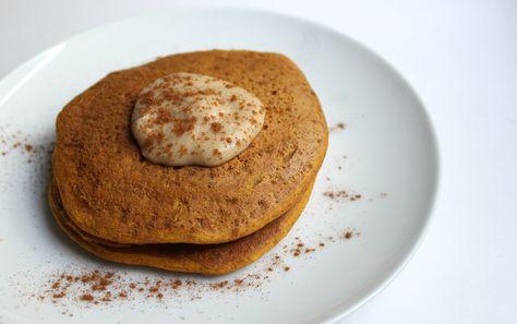 Ultra-Fluffy Vanilla Pumpkin Chickpea Pancakes   Strength and Sunshine #glutenfree #grainfree #vegan