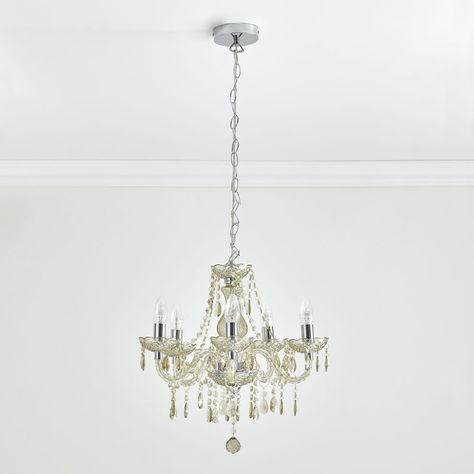 Marie 5 Arm Champagne Chandelier Ceiling Light Light Fittings Ceiling Lights Chandelier Ceiling Lights