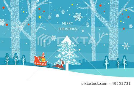 자작나무 사슴 썰매 겨울 크리스마스 눈 눈결정 트리 크리스마스트리 감성 일러스트 디자인소스 디자인 크리스마스 트리 크리스마스 디자인 겨울