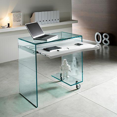 Tonelli Work Box Glass Desk Office Furniture In 2020 Glass