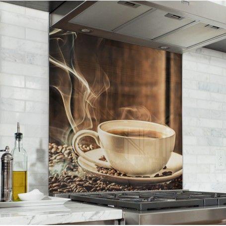 Fond De Hotte Tasse De Cafe Avec Grain Tasse Cafe Credence Cuisine Cuisines Deco