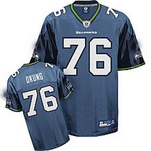 nfl seattle seahawks 76 russell okung blue