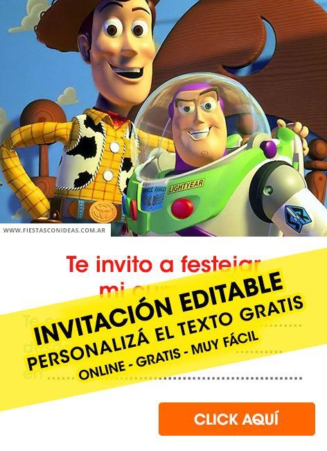 20 Tarjetas De Cumpleaños De Toy Story Gratis Para
