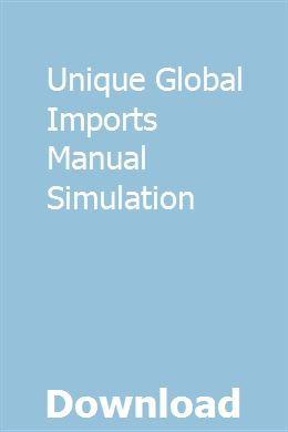 Unique Global Imports Manual Simulation Manual Case Excavator Distributed Computing
