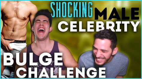 scary video of Shocking Male Celebrity Bulge Challenge