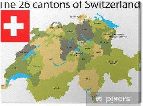 Kaart Met Kantons Zwitserland Google Search Zwitserland Kaarten