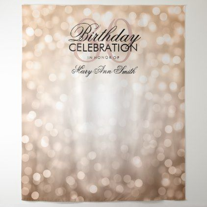 Personalized 80th Birthday Backdrop Rose Gold Zazzle Com