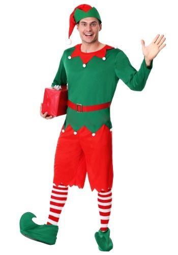 Men S Plus Size Santa S Helper Costume Santa S Helper Costume Plus Size Costume Christmas Elf Costume