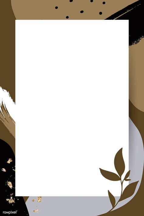 Rectangle leafy Memphis frame vector | premium image by rawpixel.com / nunny