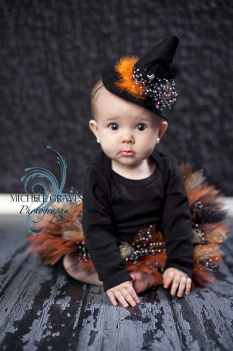 Michele Graves Photography... A beautiful first halloween portrait.  Crisp and cute!!