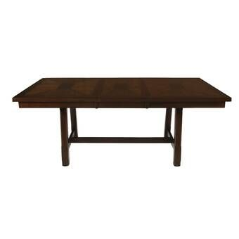 Darya Extendable Solid Wood Dining Table With Images Solid