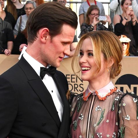 The Crown's Claire Foy and Matt Smith Ruled at the SAG Awards