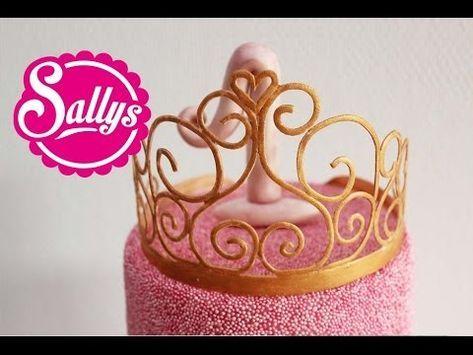 Prinzessin Krone Aus Blutenpaste Anleitung Gumpaste Princess Crown How To 27 02 15 Youtube Blutenpaste Prinzessin Krone Prinzessinnen Torte