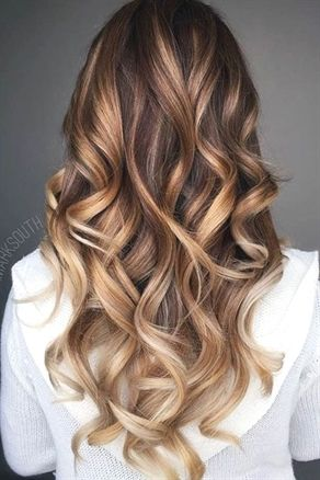 Brown To Blonde Ombre Long Hair Balayage Ombre Hair Color