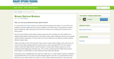 Trading binary options in the usa