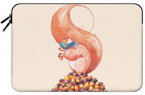 Casetify Macbook 12 Funda para Macbook - Squirrel and Acorns Watercolor by Timone #Casetify