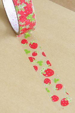 Kawaii Little Strawberries Transparent Wide Deco Tape - x ft) Cool Stationary, Stationary Supplies, Cute School Supplies, Craft Supplies, Masking Tape, Washi Tapes, Decorative Tape, Kawaii Stationery, Tape Crafts