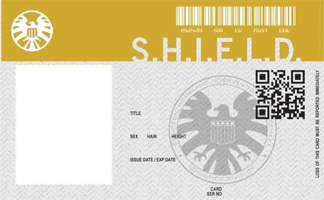 Shield Id Card Template Marvel Shield Id Card Template Marvel Agents Of Shield