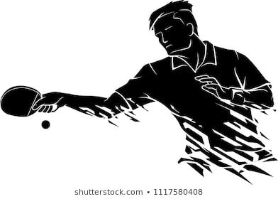 Abstract Table Tennis Player Table Tennis Player Table Tennis Wall Sculpture Art