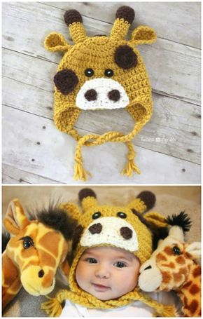 I Have Made A Big List Of Most Beautiful Adorable And Stylish Crochet Baby Hats Pattern Crochet Giraffe Pattern Crochet Baby Hat Patterns Crochet Baby Hats
