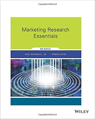 Test bank for Marketing Research Essentials 9th Edition by Carl
