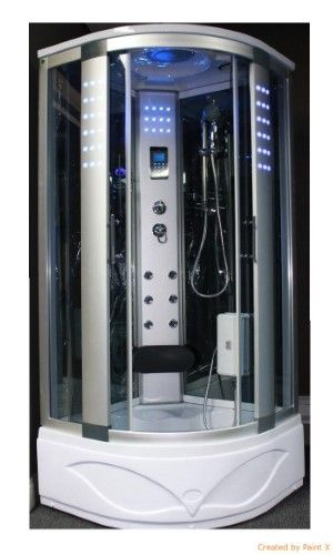 Kokss Steam Shower Enclosure 8002 A With 3kw Steam Generator