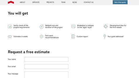 services DESIGN FINGERSby  Benchmark Pinterest User - estimate request form