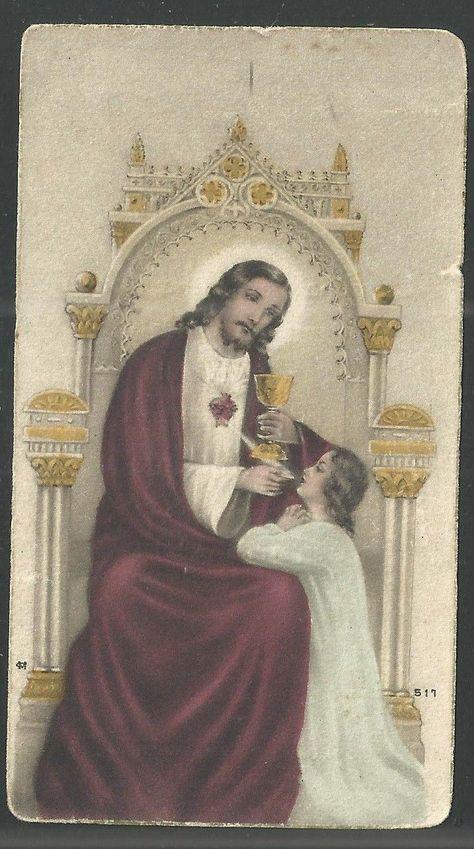 Holy card antique de Jesus andachtsbild santino estampa image pieuse