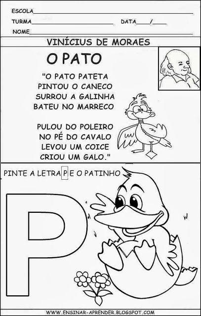 Resultado De Imagem Para Atividades Com A Musica O Pato De
